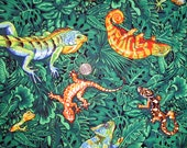 Fabric - 4.5 yards - Lizards, Iguanas, Chameleons, Geckos, and Salamanders - Quiltsy Destash Party