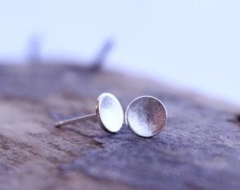 Sterling Silver Simple Stud Earrings - Silver Post Earring Studs