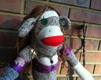 Custom Bellydancer sock monkey