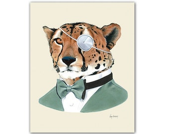 Cheetah art print 8x10