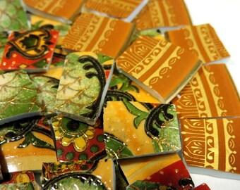 China Mosaic Tiles - ViNTaGE BoHo BLeND - H.P. GOLD - Mosaic Tiles