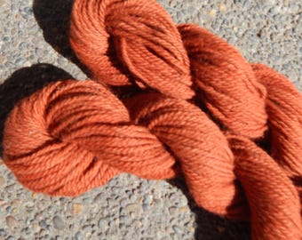 Alpaca Yarn Worsted Weight Hand Dyed Persimmon Baby Soft 100 yard Skeins Knitting Crochet Projects