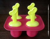 Silicone Mold for BEAN POPS (TM). 4 Cavities for frozen pops, soap mold for soap pops, jelly beans