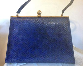 50s Navy Blue Handbag Vintage Purse