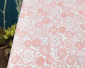 Cycles of Life bike fabric orange sprocket gears designed by me Kristen Berger for Maywood Studio