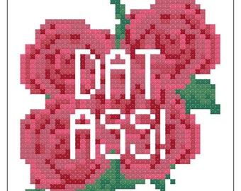 Valentryin' Cross Stitch Pattern 001 - Dat Ass