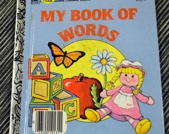 "Vintage Children's Book ""My Book of Words"" by Rebecca Heller First  Little Golden Book"