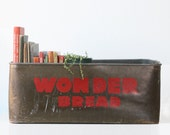 Vintage Wonder Bread Crate, Industrial Bread Box