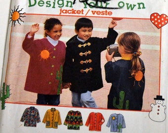 Children's Sewing Pattern Simplicity 9303 Design Your Own Jacket   Size 3-4-5-6 UNCUT  COMPLETE