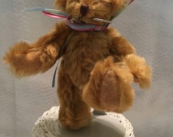 Handmade Artist Golden Mohair Collectible Teddy Bear