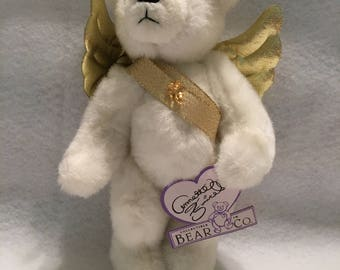 """Annette Funicello Collection Limited Edition """"Jill Angel Bear"""" Collectible Teddy Bear"""