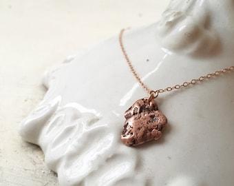 Raw Copper Diamond Studded Necklace