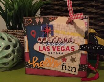 Las Vegas Scrapbook - Las Vegas Travel Vacation Scrapbook - Las Vegas Paper Bag Album