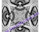 Single Coloring Page - Owl Mandala Design - Download, Print & Color!