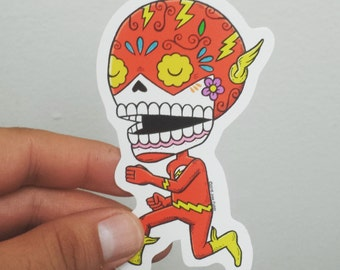 Flash Calavera Die Cut Vinyl Sticker