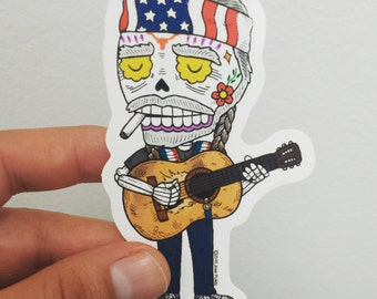 Willie Calavera Die Cut Vinyl Sticker