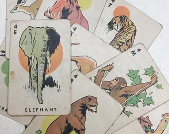 SALE! 1930's Animal Cards. 11-Pack