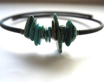Turquoise Bracelet, Turquoise Stone Cuff Bracelet, Handmade Turquoise Jewelry, Turquoise, luminous creation, Made in the USA