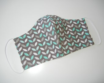 Fabric Surgical Face Mask in Mod Mint Leaf