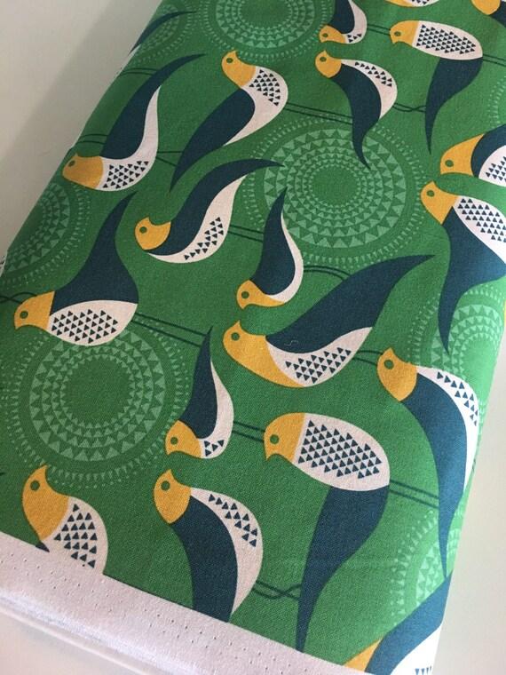 Bird fabric woodland nursery fabric modernist fabric for Bird nursery fabric