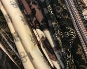 Skulls Goth Michael Miller Scraps/Yardage Destash Assortment Lot Flat Rate Shipping 4lbs 2.8oz. of fabric Perfect For Quilt Making