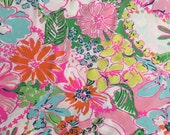 "multi nosie posey cotton/rayon fabric square 18""x18"" ~ 2015 lilly for target ~ lilly pulitzer"