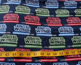Star Wars Light Saber Fabric - 1/2 yard