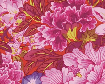 Philip Jacobs PICOTTE POPPIES Red PWPJ064 Fabric - Cuts by HALF Yard Increments