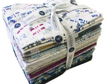 Windham LITERARY Fat Quarter Bundle 25 Precut Cotton Fabric Quilting FQs Heather Givans