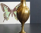 "Tall Swirl Brass Vase 10"" Brass Decor"