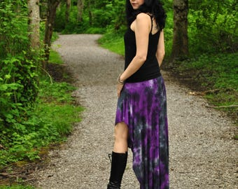Persephone Skirt - Boho Skirt - Womens Skirt - Full Skirt - Hippie Skirt - Festival Skirt -Long Skirt - Black Skirt - Bamboo Skirt