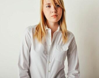 White Balenciaga Paris Button Down Shirt