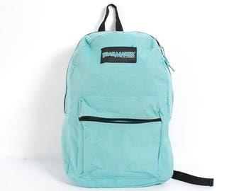 TRAILMAKER turquoise nylon 90s BACKPACK grunge unisex knapsack