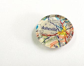 NEW Vintage Map Magnet - Ready to ship - Asheville NC - North Carolina - Biltmore Estate -travel souvenir- gift