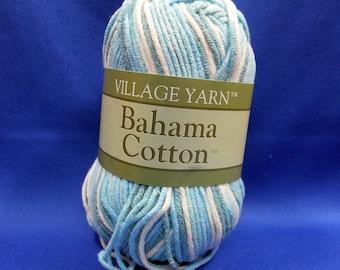 Village Yarn, Bahama Cotton, dk weight, cotton - acrylic blend,  50g skein,  Caribbean