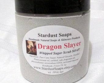 Dragonslayer Whipped Soap Scrub (Handmade, exfoliating, cleansing, soap, scrub, Gift) Stardust Soaps