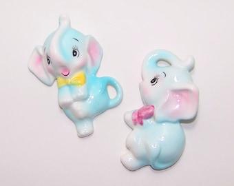Vintage PY Anthropomorphic Baby Elephant Plaques
