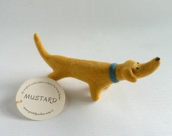 Needle felted dachshund, needle felt Weiner, sausage dog, dog lover gift, needle felt dog,  miniature Weiner, Gretel Parker