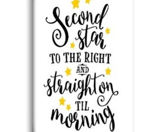 Second Star To The Right and Straight On Til Morning Magnet, Fridge Magnet
