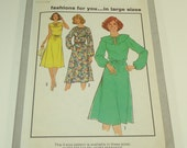 Simplicity Women's Pullover Dress And Tie Belt Pattern 8605 Size 46 - 48 - 50 - 52