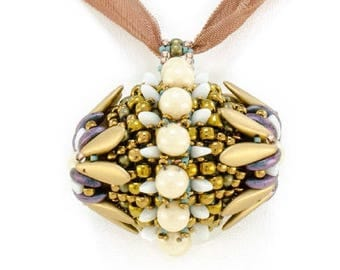 HOLD FOR TERRY - Dragon's Egg Pendant - Fun Beaded Pendant Necklace - by Hannah Rosner
