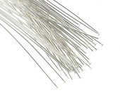 50% OFF SALE Head Pins Silver Plated 3 Inch 21 Gauge (50) FI837