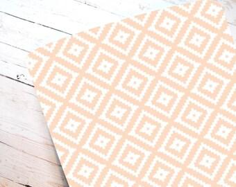 Blush Aztec Fitted Crib Sheet