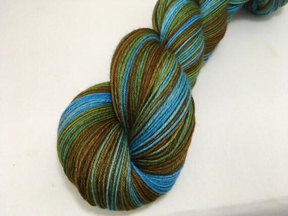 Silver Yarn - G. Weasley - Ready to Ship - Hand Dyed - Merino Wool Yarn - Sock Yarn - Harry Potter Inspired