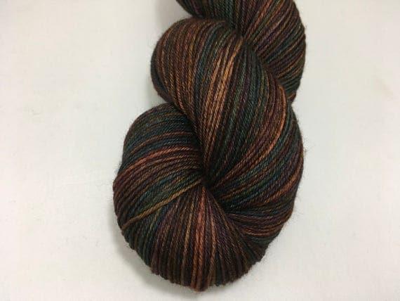 Silver Yarn - Forbidden Forest - Ready to Ship - Hand Dyed - Merino Wool Yarn - Sock Yarn - Harry Potter Inspired
