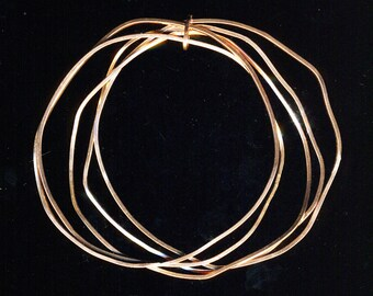Copper wire bangles five grouping bracelets