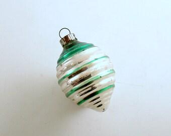 Vintage Christmas Glass Ornament Shiny Brite Top Mid Century