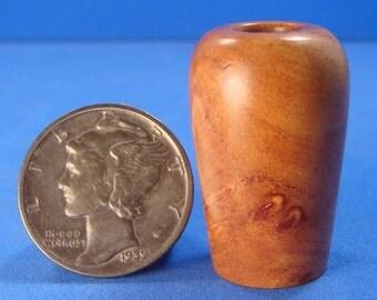 "1"" Scale African Sandalwood Vase - IGMA Fellow Helmer Lathe Turned Dollhouse Miniature"