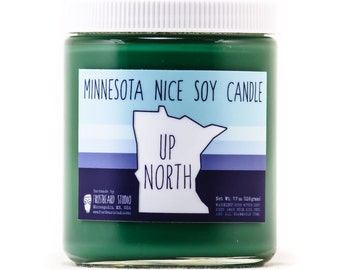 Up North - Minnesota Nice Candle - Scented Soy Candle - 8oz jar - SALE