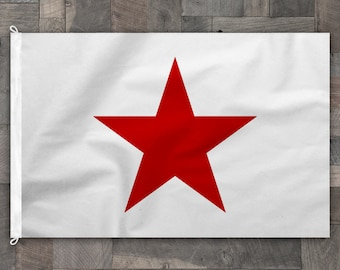 Historical California Lone Star Flag, 100% Cotton, Stitched Design, Made in USA